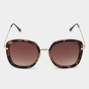 Tortoise Square Large Brown Sunglasses acrylic